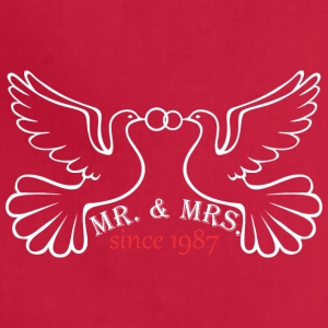 Mr And Mrs Since 1987 Married Marriage Engagement - Adjustable Apron