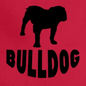 Bulldog Silhouette - Adjustable Apron