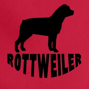 Rottweiler Silhouette - Adjustable Apron