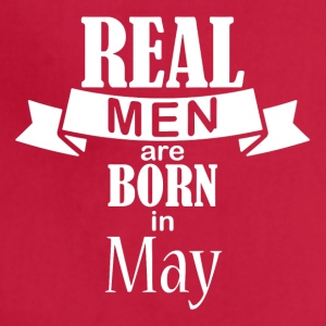 Real men born in May - Adjustable Apron