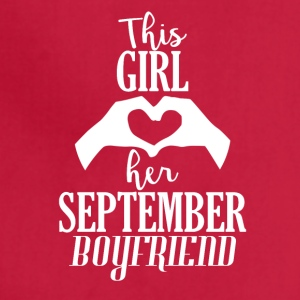 This Girl loves her September Boyfriend - Adjustable Apron