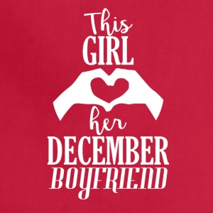 This Girl loves her December Boyfriend - Adjustable Apron