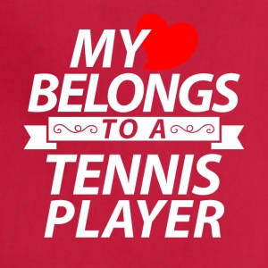 My heart belongs to a Tennis player - Adjustable Apron