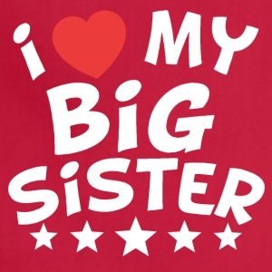 I Heart My Big Sister - Adjustable Apron