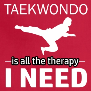 Taekwondo is my therapy - Adjustable Apron