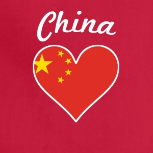 China Flag Heart - Adjustable Apron