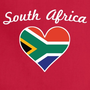 South Africa Flag Heart - Adjustable Apron