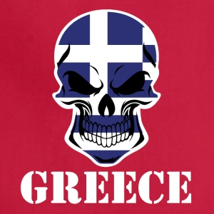 Greek Flag Skull Greece - Adjustable Apron