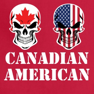 Canadian American Flag Skulls - Adjustable Apron