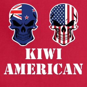 Kiwi American Flag Skulls - Adjustable Apron
