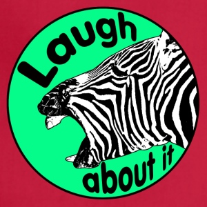 zebra is laughing - Adjustable Apron