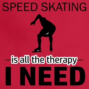 Speed skating is my therapy - Adjustable Apron