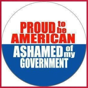 Proud to be American, Ashamed of my Government - Adjustable Apron