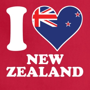 I Love New Zealand Kiwi Flag Heart - Adjustable Apron