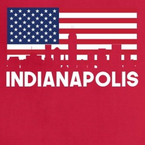 Indianapolis IN American Flag Skyline - Adjustable Apron