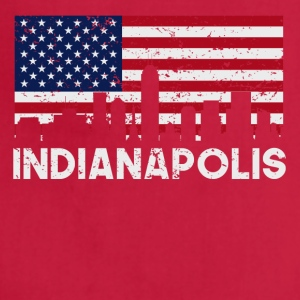 Indianapolis IN American Flag Skyline Distressed - Adjustable Apron