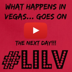 Happens in Vegas Goes on Youtube Black - Adjustable Apron