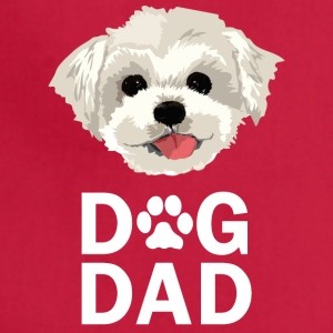 Dog Dad Maltese Funny Fathers Day Gift Paw - Adjustable Apron