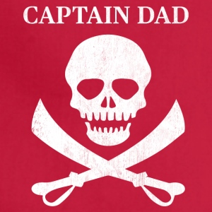 Funny Captain Dad Pirate Lover Fun Halloween - Adjustable Apron