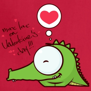 crocodile alligator animal more love on Valentines - Adjustable Apron