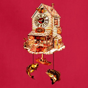 Fishing Lodge Cuckoo Clock - Adjustable Apron