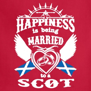 MARRIED TO A SCOT TEE SHIRT - Adjustable Apron