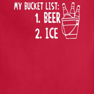 My Bucket List1 Beer 2 Ice - Adjustable Apron