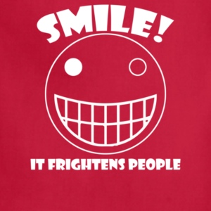 Smile It Frightens People - Adjustable Apron