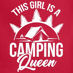 Camping Queen for Holiday & Outdoor Camper Girls - Adjustable Apron