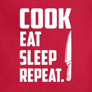 Cook eat sleep repeat T-Shirts - Adjustable Apron