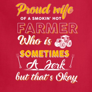 Proud wife Farmer T Shirts - Adjustable Apron