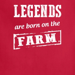 Legends are born on the Farmer T Shirts - Adjustable Apron