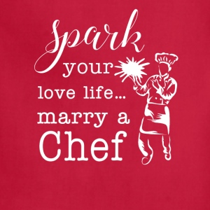 Marry a Chef T-Shirts - Adjustable Apron