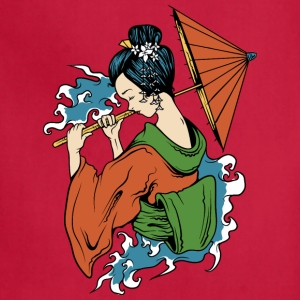 Japanese_geisha_with_umbrella - Adjustable Apron