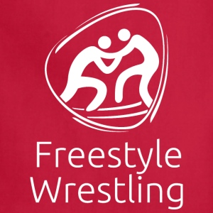 Freestyle_wrestling_white - Adjustable Apron