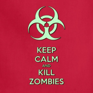 Keep calm and kill zombies, zombie light green - Adjustable Apron