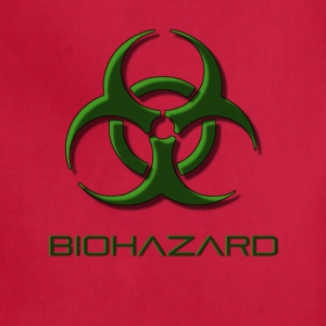 Green biohazard warning, toxic waste danger symbol - Adjustable Apron
