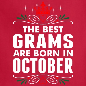 The Best Grams Are Born In October - Adjustable Apron