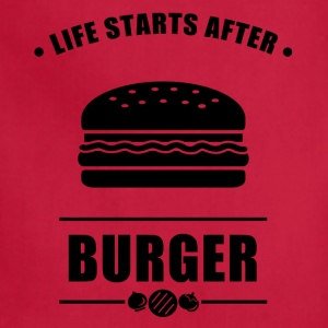 Life Start After BURGER - Adjustable Apron