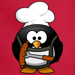 Funny Cartoon Grilling Penguin - Adjustable Apron