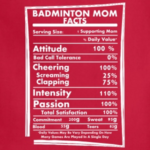 Badminton Mom Facts Daily Values May Be Vary - Adjustable Apron