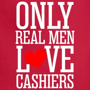 Only Real Men Love Cashiers - Adjustable Apron
