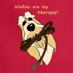 Walkies are my therapy! - Adjustable Apron