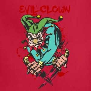 EVIL_CLOWN_3_WITH_knifes_bloody - Adjustable Apron