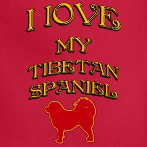 I LOVE MY DOG Tibetan Spaniel - Adjustable Apron