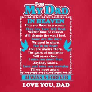 Dad In Heaven Shirt - Adjustable Apron