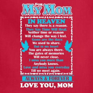 Mom In Heaven Shirt - Adjustable Apron