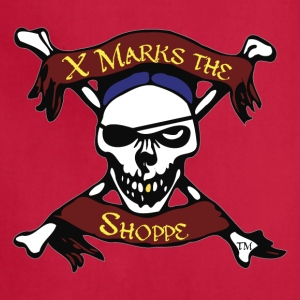 X Marks the Shoppe, Skull and Crossbones logo - Adjustable Apron
