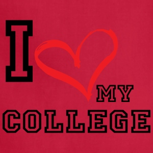 I_LOVE_MY_COLLEGE- PLUS SIZE - Adjustable Apron