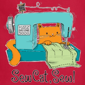 Sew Cat, Sew! What could go wrong? - Adjustable Apron